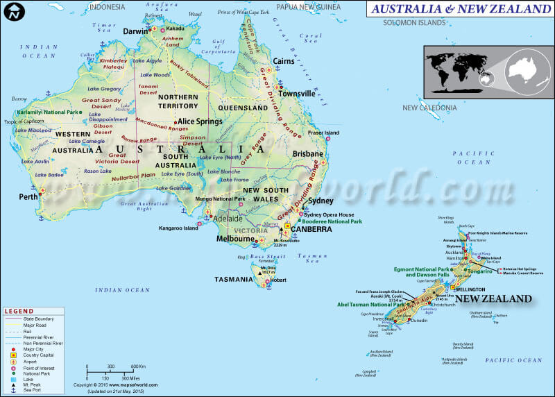 map-of-australia-newzealand